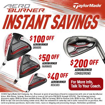 Aeroburner Instant Savings!