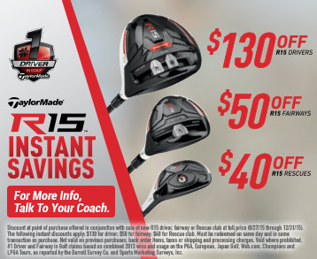 Taylormade R15 Savings